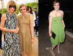 Lena Dunham In Reed Krakoff - Vogue CFDA Fashion Fund Event & Dinner