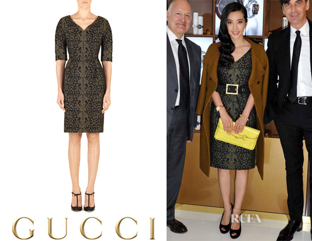 Li Bingbing's Gucci Shift Dress