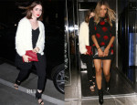 Lily Collins In MinkPink & Topshop and Ciara In Opening Ceremony - Hakkasan Restaurant