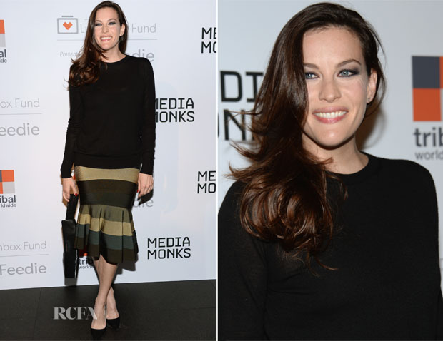 Liv Tyler In Givenchy and Proenza Schouler - The Lunchbox Fund Fall Fete And Feedie App Launch