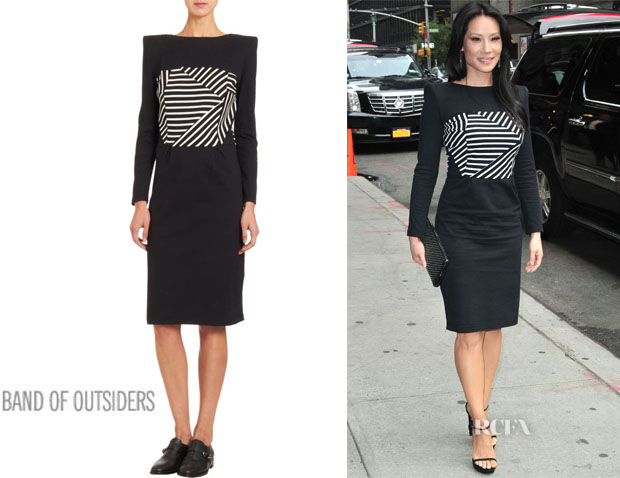 Lucy Liu's Boy by Band of Outsiders Striped Boatneck Dress