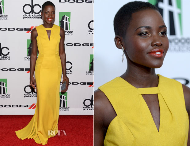 Lupita Nyong'o In J Mendel - 2013 Hollywood Film Awards