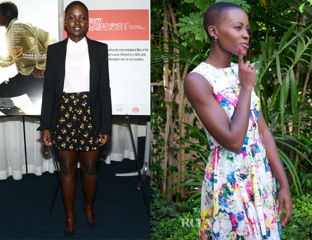 Lupita Nyong'o In Prada & Erdem -'12 Years A Slave' Variety Screening Series & Press Conference