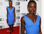 Lupita Nyong'o In Roland Mouret - '12 Years A Slave' New York Film Festival Premiere