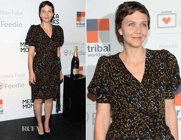 Maggie Gyllenhaal In Vintage Yves Saint Laurent - The Lunchbox Fund Fall Fete And Feedie App Launch