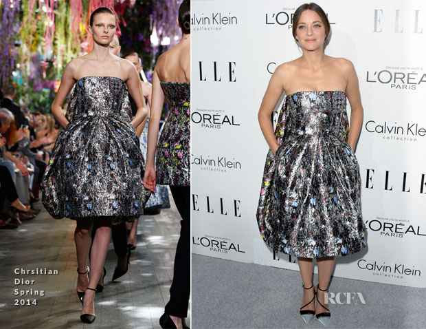 Marion Cotillard In Christian Dior - ELLE's 20th Annual Women In Hollywood Celebration