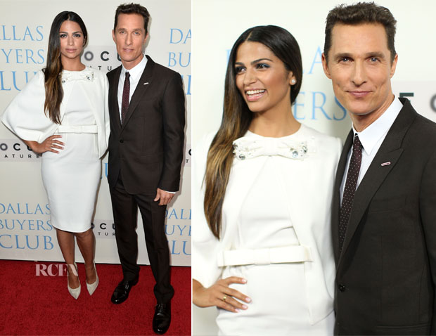 Matthew McConaughey In Dolce & Gabbana and Camila Alves In Paule Ka - 'Dallas Buyers Club' LA Premiere
