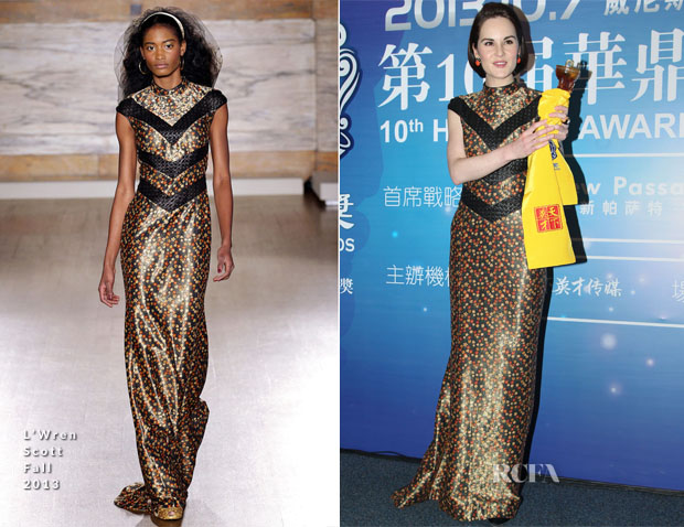 Michelle Dockery In L'Wren Scott - 10th Huading Awards Opening Ceremony