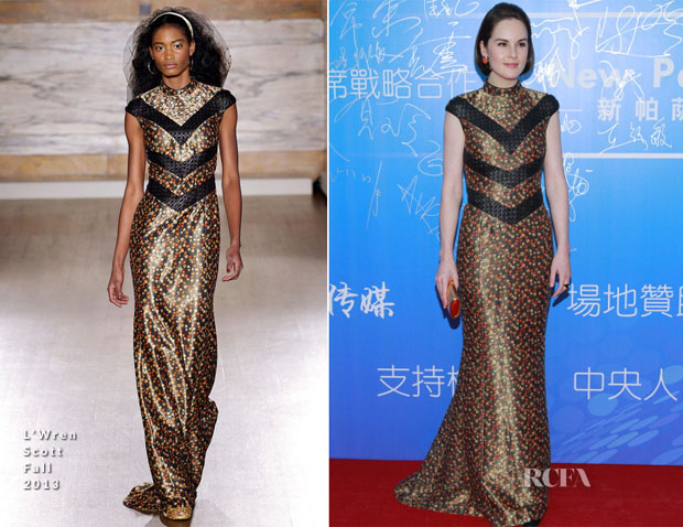 Michelle Dockery In L'Wren Scott