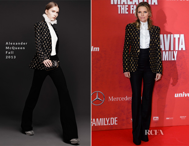 Michelle Pfeiffer In Alexander McQueen - 'Malavita - The Family' Berlin Premiere