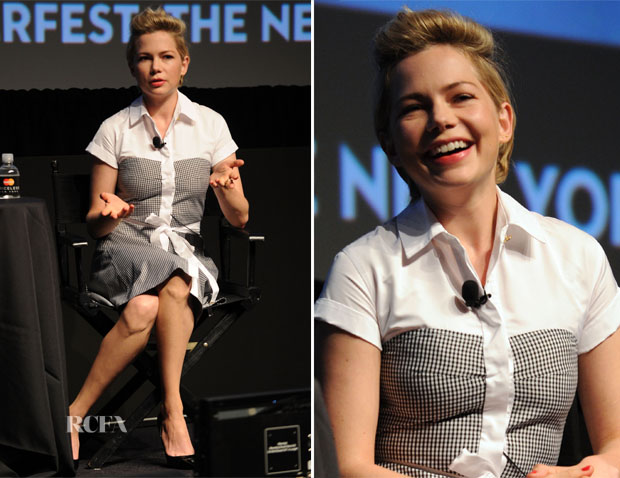 Michelle Williams In Louis Vuitton - The New Yorker Festival 2013 'In Conversation' With Michelle Williams