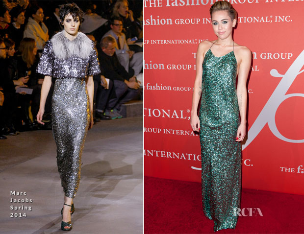 Miley Cyrus In Marc Jacobs - 30th Annual Fashion Group International Night Of Stars