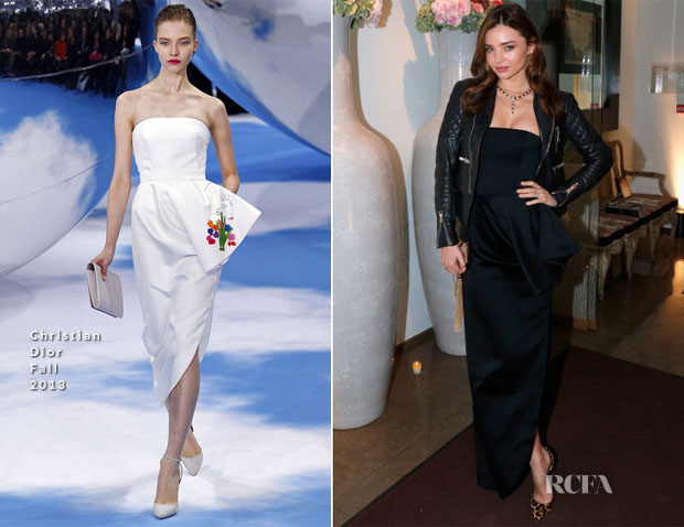 Miranda Kerr In Christian Dior - Bulgari Party