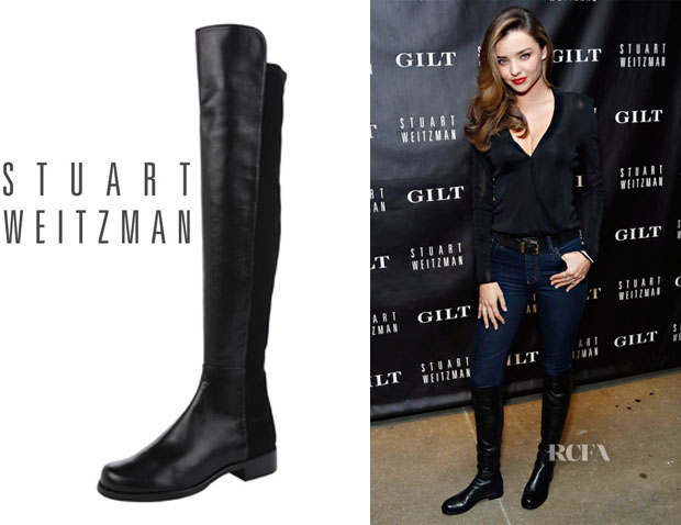 Miranda Kerr's Stuart Weitzman '5050 Napa' Leather To-the-Knee Boots
