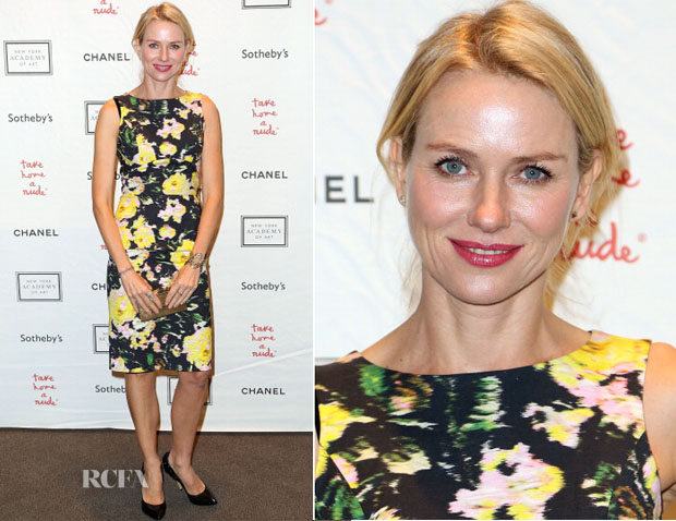 Naomi Watts In Erdem - 2013 'Take Home A Nude' Benefit Art