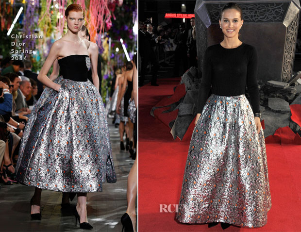 Natalie Portman In Christian Dior - 'Thor The Dark World' World Premiere