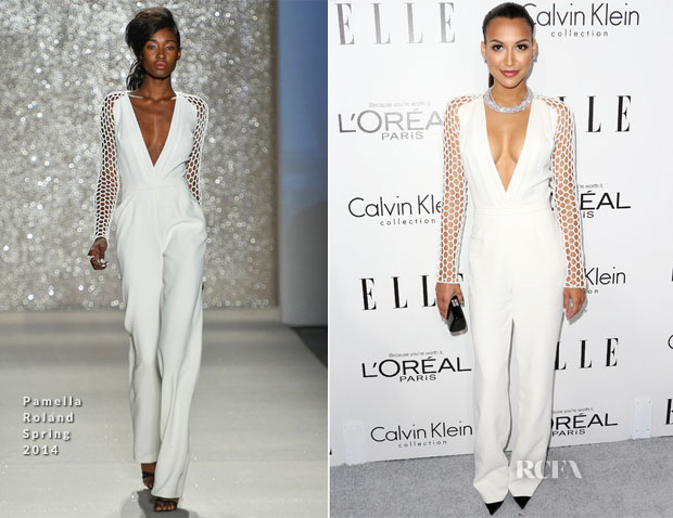 Naya Rivera In Pamella Roland - ELLE's 20th Annual Women In Hollywood Celebration