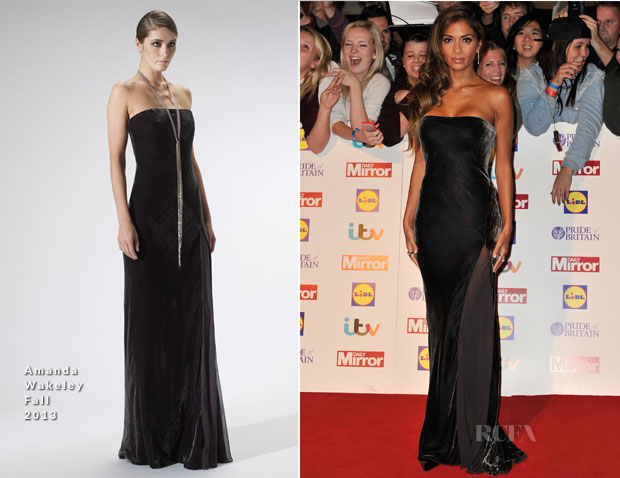 Nicole Scherzinger In Amanda Wakeley - 2013 Pride of Britain Awards