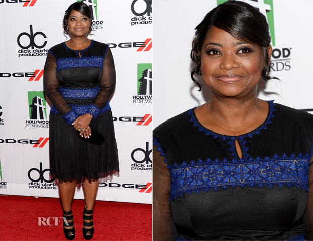 Octavia Spencer In Tadashi Shoji - 2013 Hollywood Film Awards