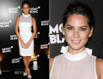 Olivia Munn In Viktor & Rolf -  Montblanc's Madison Avenue Boutique Opening