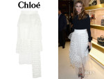 Olivia Palermo's Chloé Embroidered Tulle Maxi Skirt