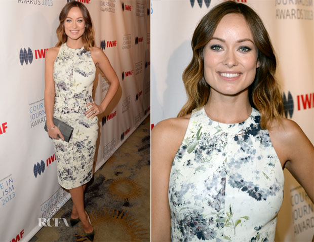 Olivia Wilde In Cushnie et Ochs - 2013 Courage in Journalism Awards