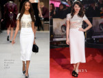 Ophelia Lovibond In Burberry Prorsum - 'Thor: The Dark World' World Premiere