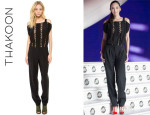 Pace Wu's Thakoon Lace Inset Jumpsuit