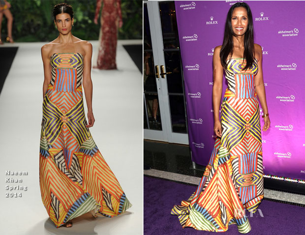 Padma Lakshmi In Naeem Khan - 2013 Alzheimer's Association Rita Hayworth 30th Anniversary