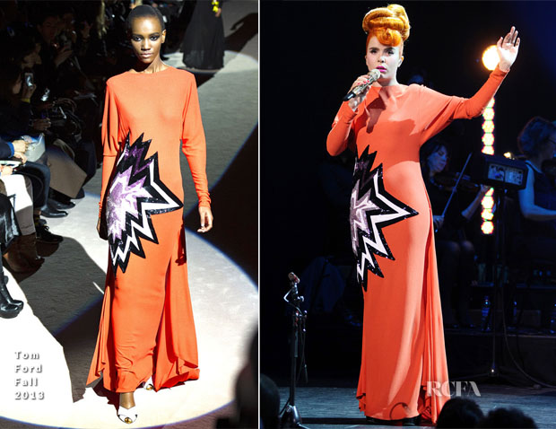 Paloma Faith In Tom Ford & Burberry Prorsum - In Concert