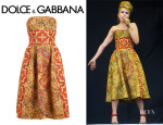 Paloma Faith's Dolce & Gabbana Mosaic Printed Dress