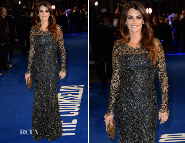 Penelope Cruz In Temperley London - 'The Counselor' London Screening