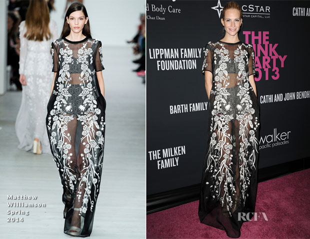 Poppy Delevingne In Matthew Williamson - Elyse Walker's Pink Party