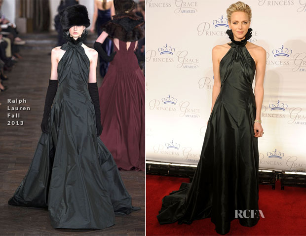 Princess Charlene Of Monaco In Ralph Lauren 2013 Princess Grace