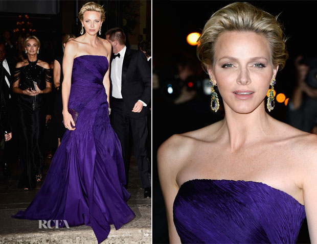 Princess Charlene of Monaco In Ralph Lauren - Ralph Lauren Dinner