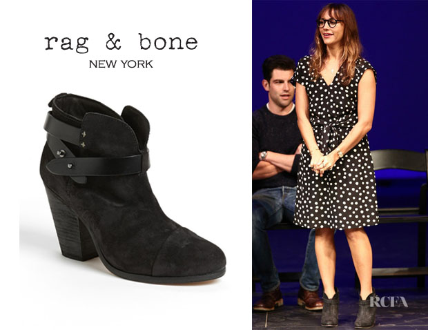 Rashida Jones' Rag & Bone 'Harrow' Boots