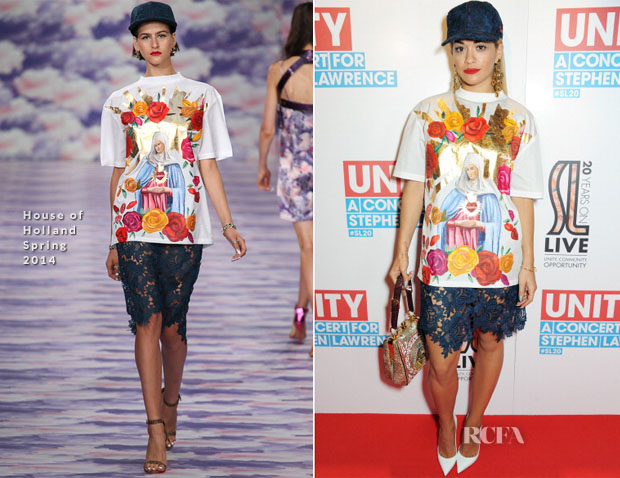 Rita Ora In House of Holland - 'Unity A Concert For Stephen Lawrence'