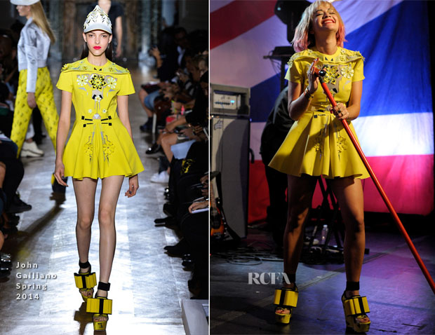 Rita Ora In  John Galliano - iHeartRadio LIVE