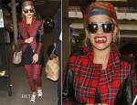 Rita Ora In Karl Lagerfeld - St Pancras Station