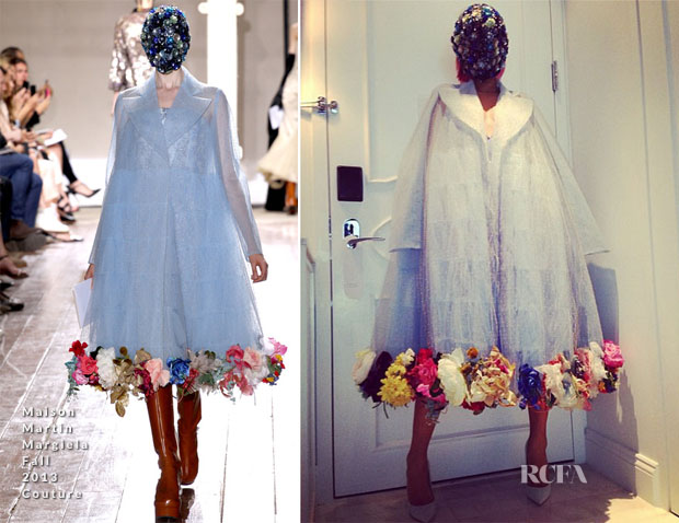 Rita Ora In Maison Martin Margiela - Instagram
