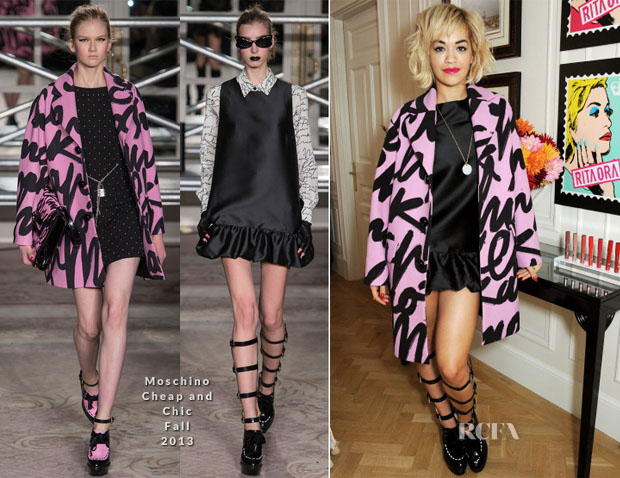 Rita Ora In Moschino Cheap and Chic - Rimmel London '180 Years Of Cool' Photocall