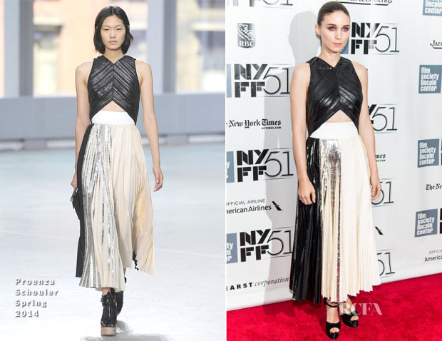 Rooney Mara In Proenza Schouler - 'Her' New York Film Festival Screening