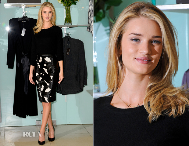 Rosie Huntington Whiteley In Marks & Spencer Autograph - Rosie for Autograph Photocall