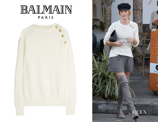 Rosie Huntington-Whiteley's Balmain Wool-Blend Sweater