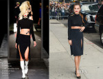 Selena Gomez In Versus Versace J.W. Anderson Collection - Late Show with David Letterman