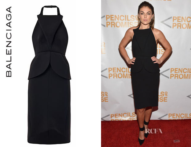 Serinda Swan's Balenciaga Sculptural Backless Dress