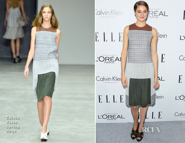Shailene Woodley In Calvin Klein Collection - ELLE's 20th Annual Women In Hollywood Celebration
