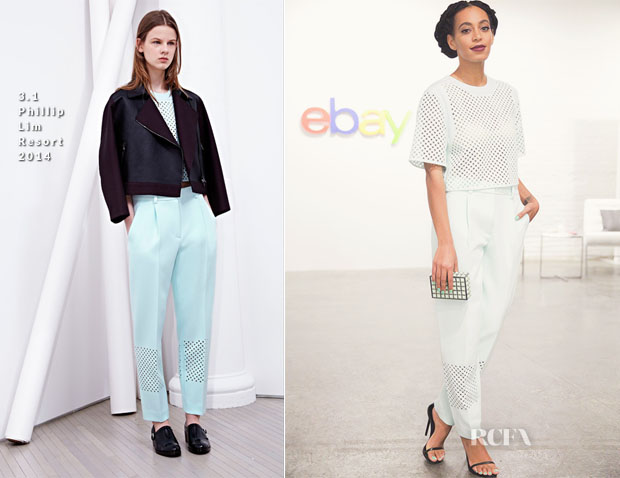 Solange Knowles In 31 Phillip Lim - Ebay's 'Future of Shopping' Event After-Party