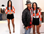 Solange Knowles In Etro & Clover Canyon -  Ebay's 'Future of Shopping' Event