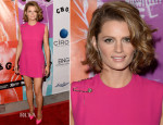 Stana Katic In Versace - 'CBGB' LA Screening